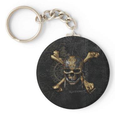 Disney Themed Pirates of the Caribbean Skull & Cross Bones Keychain