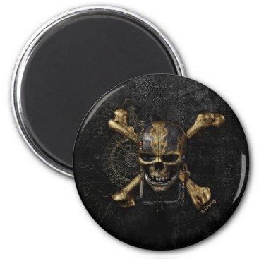Disney Themed Pirates of the Caribbean Skull & Cross Bones Magnet