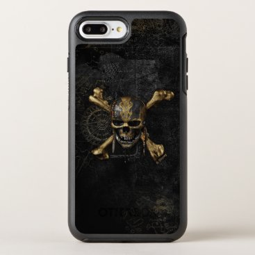Disney Themed Pirates of the Caribbean Skull & Cross Bones OtterBox Symmetry iPhone 7 Plus Case