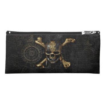 Disney Themed Pirates of the Caribbean Skull & Cross Bones Pencil Case