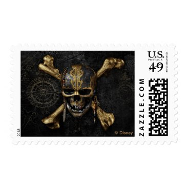 Disney Themed Pirates of the Caribbean Skull & Cross Bones Postage