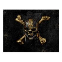 Pirates of the Caribbean Skull & Cross Bones Postcard
