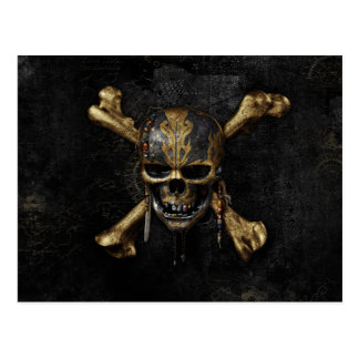 Pirates of the Caribbean Skull & Cross Bones Postcard