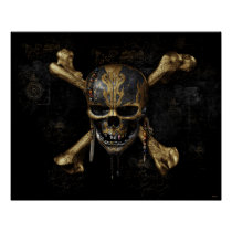 Pirates of the Caribbean Skull & Cross Bones Poster