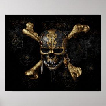 Disney Themed Pirates of the Caribbean Skull & Cross Bones Poster