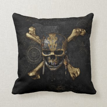 Disney Themed Pirates of the Caribbean Skull & Cross Bones Throw Pillow