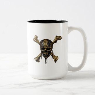 Pirates of the Caribbean Skull & Cross Bones Two-Tone Coffee Mug