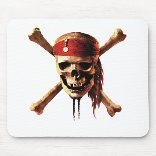 Pirates of the Caribbean Skull Mouse Pad