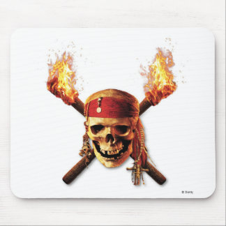 Pirates of the Caribbean Skull torches Logo Disney Mouse Pads