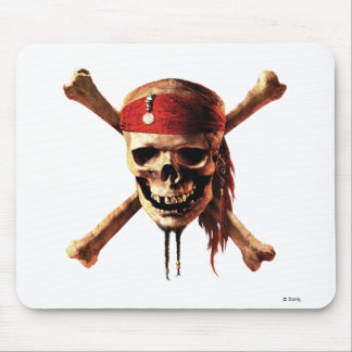 Pirates of the Caribbean skull torches Logo Disney Mousepad