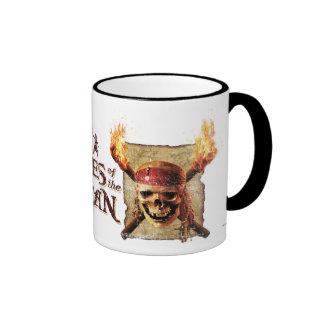 Pirates of the Caribbean Skull torches Logo Disney Coffee Mugs