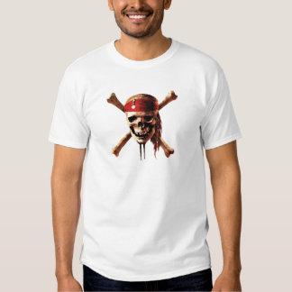 Pirates of the Caribbean skull torches Logo Disney Shirts