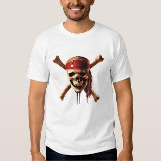 Pirates of the Caribbean skull torches Logo Disney Tshirt