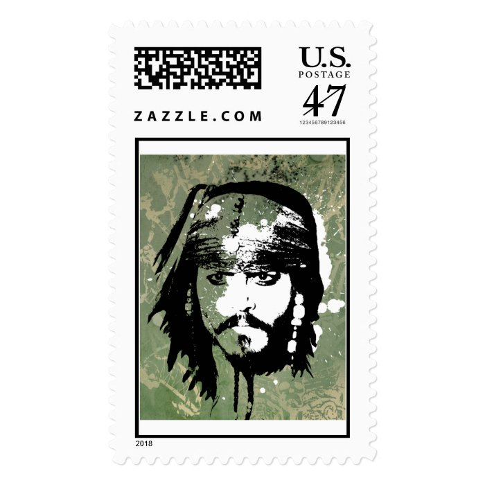 Pirates of the Caribbean's Jack Sparrow Grunge Postage
