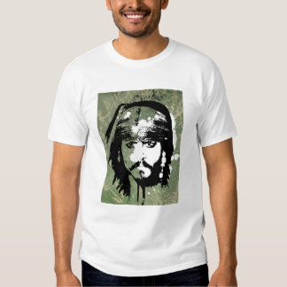 Pirates of the Caribbean's Jack Sparrow Grunge T Shirt