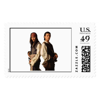 Pirates of the Carribbean Jack Sparrow and Will Postage