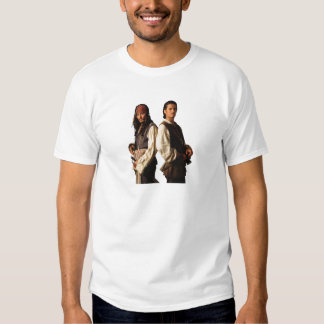 Pirates of the Carribbean Jack Sparrow and Will T Shirt