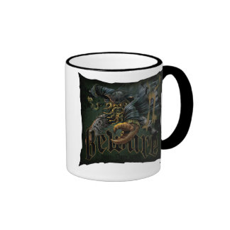 Pirates Of The Carribean Davy Jones Beware Disney Ringer Coffee Mug