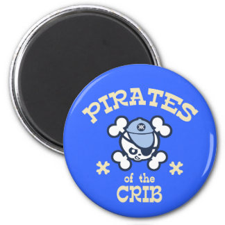 Pirates of the Crib 2 Inch Round Magnet