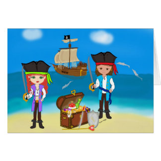 Pirates of the Hinterland Greeting Card