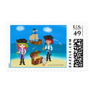 Pirates of the Hinterland Postage Stamp