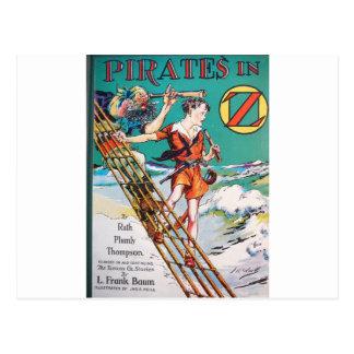 Pirates on ship postcard