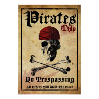 Pirates Only Print