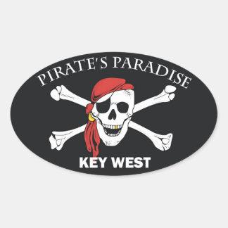 Pirates Paradise Oval Sticker