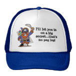 Pirate's Pegleg Surprise Mesh Hats