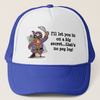 Pirate's Pegleg Surprise Trucker Hat