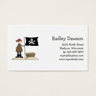 Pirates · Pirate, Flag & Treasure Business Card