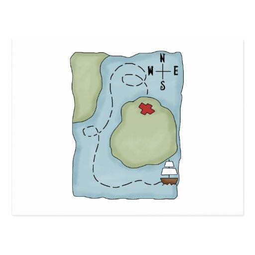 Pirates · Pirate Map Postcards