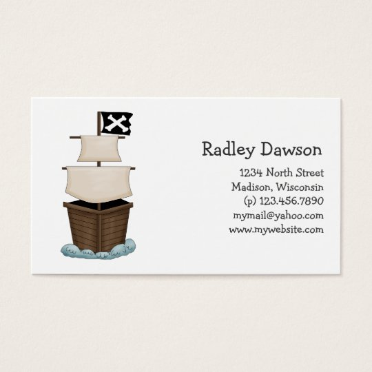 Pirates · Pirate Ship Business Card