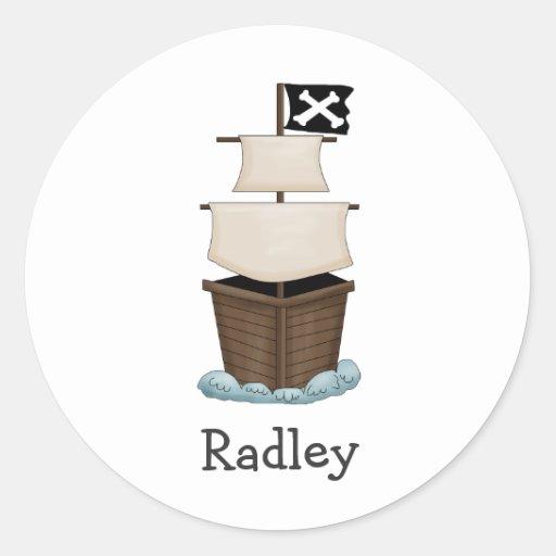 Pirates · Pirate Ship Classic Round Sticker