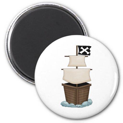 Pirates · Pirate Ship Fridge Magnet