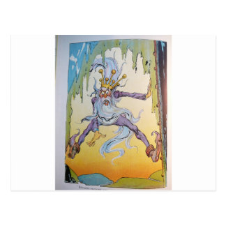 pirates - purple creature postcard