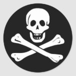 Pirates Round Sticker