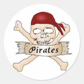 Pirates Round Stickers