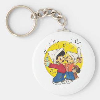 Pirates Singing Basic Round Button Keychain