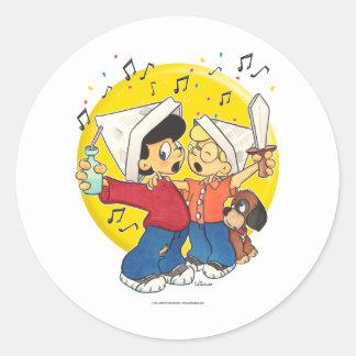 Pirates Singing Stickers