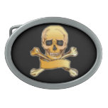 Pirates Skull & Crossbones Gothic Art Buckle Oval Belt Buckle