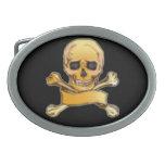 Pirates Skull & Crossbones Gothic Art Buckle Oval Belt Buckle