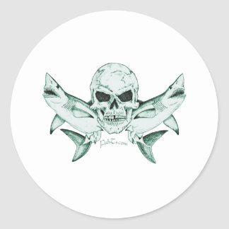 Pirates/Skulls Collection by FishTs.com Classic Round Sticker