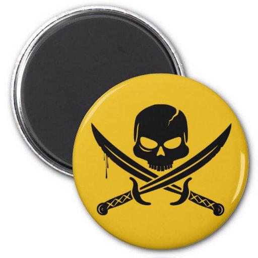 Pirates Smilie Refrigerator Magnets
