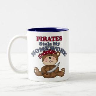 Pirates Stole My Homework Two-Tone Coffee Mug