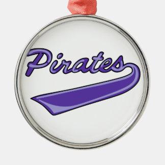 Pirates Team Metal Ornament