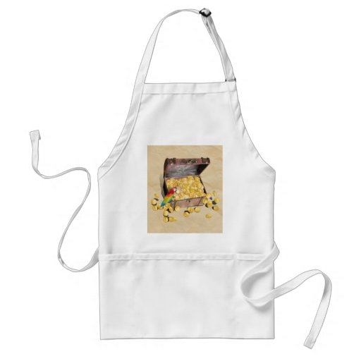 Pirate's Treasure Chest on Crinkle Paper Apron