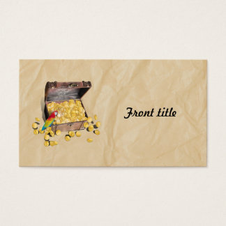 Pirate's Treasure Chest on Crinkle Paper Business Card