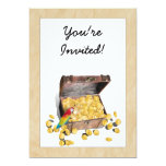 "Pirate's Treasure Chest on Crinkle Paper 5"" X 7"" Invitation Card"