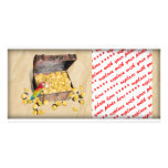 Pirate's Treasure Chest on Crinkle Paper Photo Greeting Card